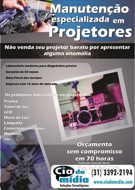 Assistência técnica de Projetores em BH Belo Horizonte